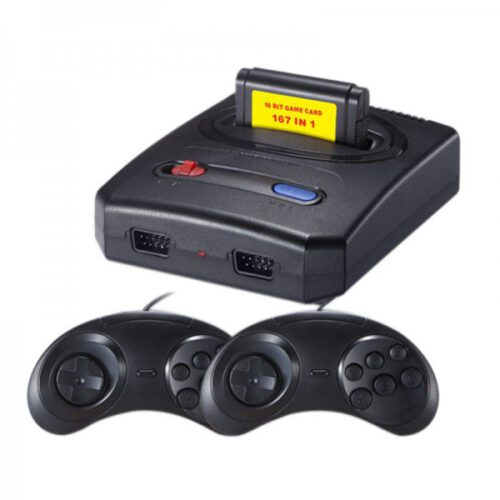 Ρετρό 16 Bit Super Mini SEGA MD SG-107 Video Game Κονσόλα AV Output TV Game με 167 Game Card Cartridge